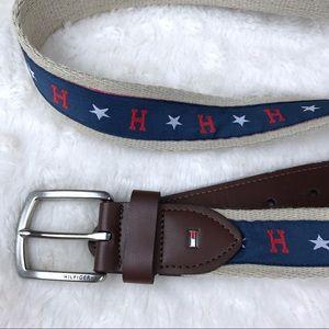 Tommy Hilfiger Belt Blue With Red H Stars L 38-40